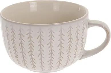 Cana Lines din ceramica alba 7 cm