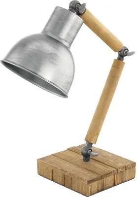 Veioza Stringston E27 max. 1x40W, lemn/argintiu