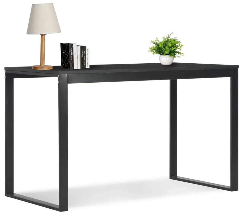 20245 vidaXL Birou de calculator, negru, 120 x 60 x 73 cm