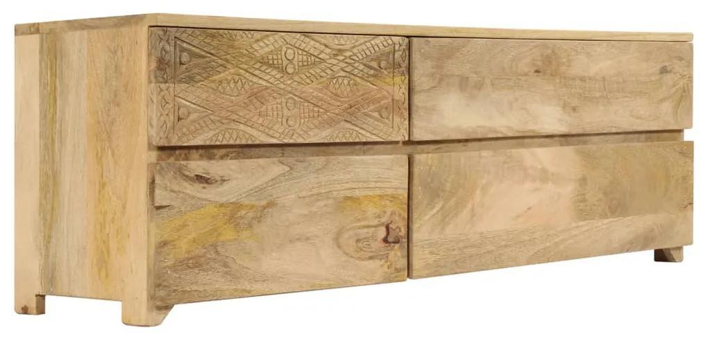 246144 vidaXL Comodă TV, lemn masiv de mango, 120 x 30 x 40 cm
