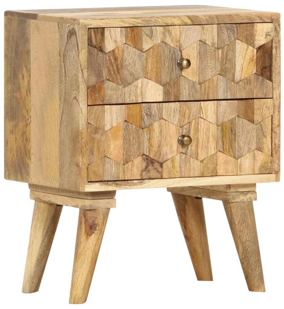 286125 vidaXL Noptieră, 40 x 30 x 50 cm, lemn masiv de mango