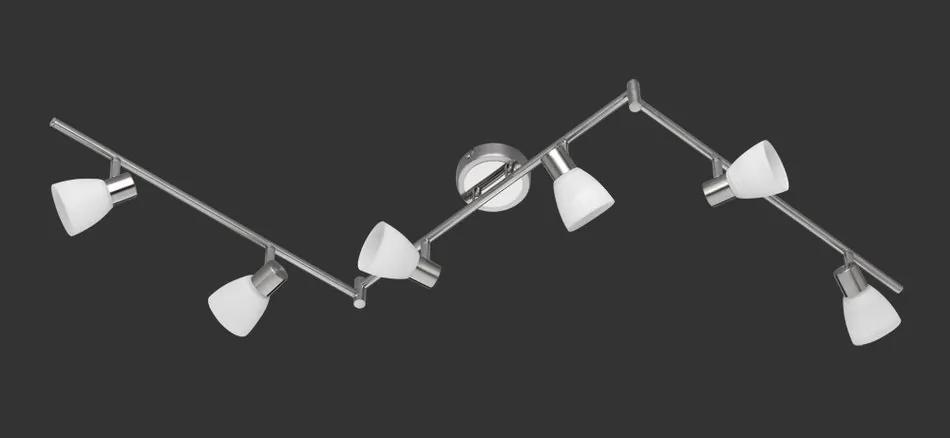 Trio 871510607 Plafoniere CARICO nichel mat metal incl. 6 x G9, 3,5W, 3000K, 300Lm 300lm 3000K IP20