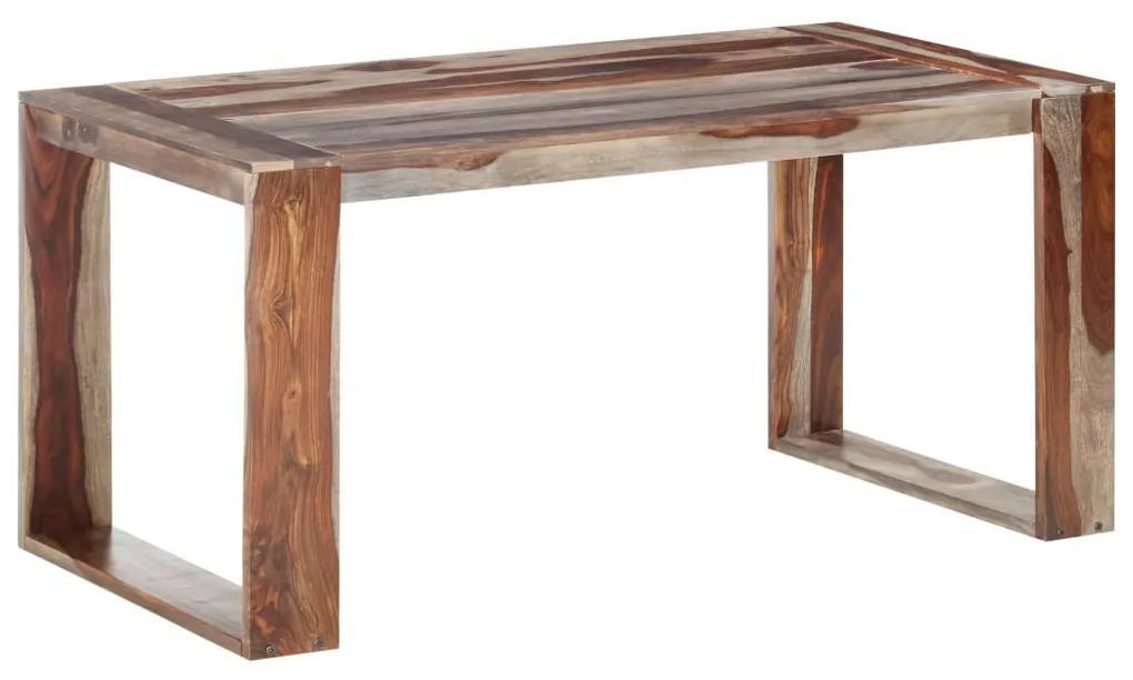 286358 vidaXL Masă de bucătărie, 160 x 80 x 76 cm, lemn masiv de sheesham