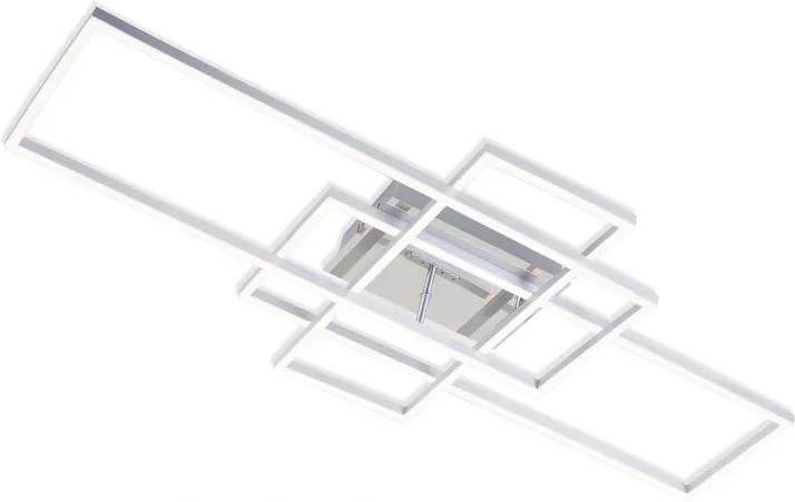 Plafoniera Miowa, LED, metal/plastic, alba, 42 x 10 x 104 cm