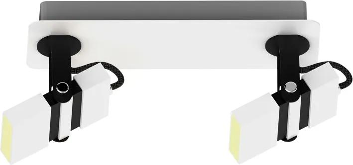 Plafoniera alba/neagra din metal cu 2 LED-uri Costa Zuma Line