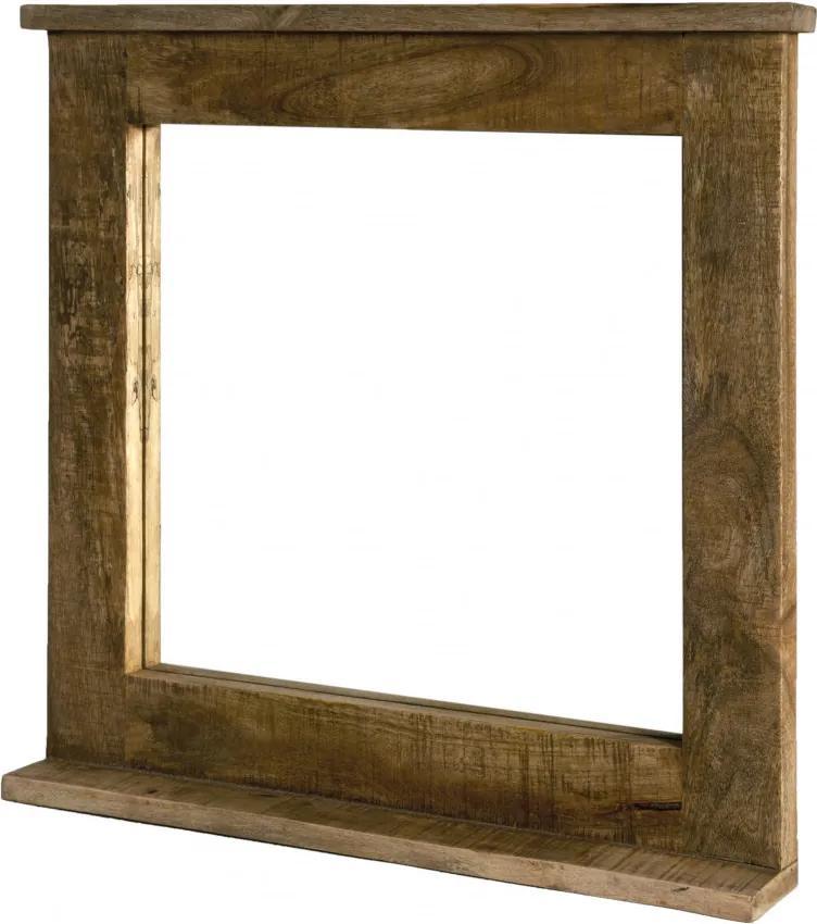 Oglinda patrata cu rama din lemn lacuit FRIGO, 70 x 9 x 69 cm