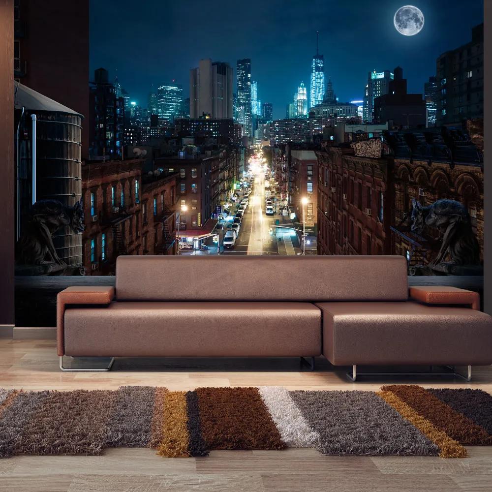 Fototapet Bimago - Sleepy New York + Adeziv gratuit 300x210 cm