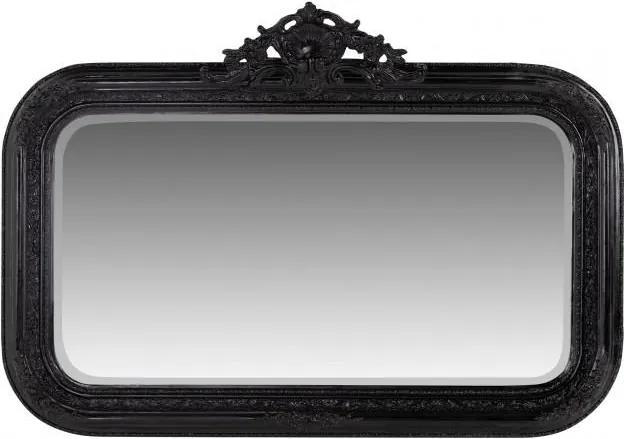 Oglinda dreptunghiulara neagra cu rama din lemn 145x99 cm Baroque