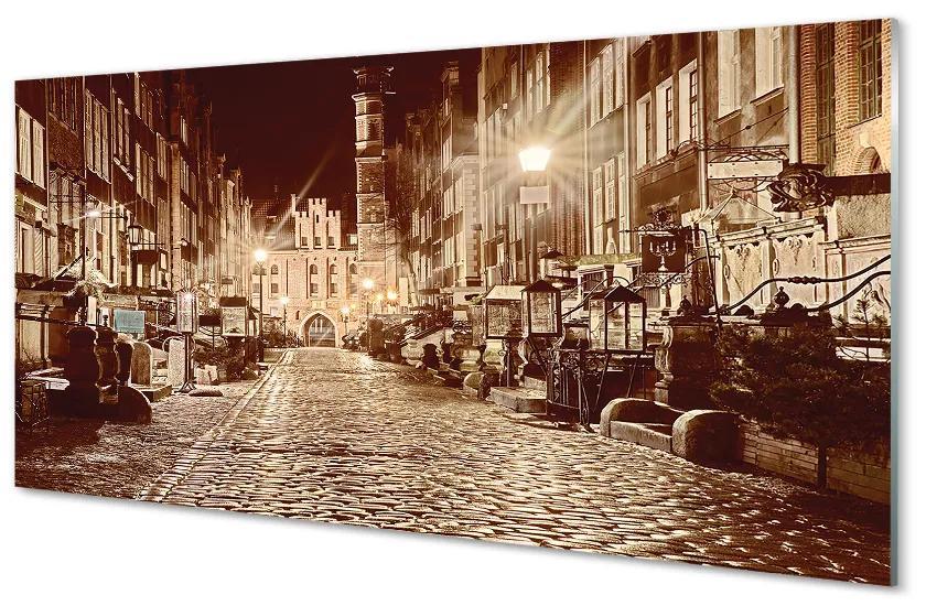 Tablouri acrilice Tablouri acrilice Gdańsk oraș vechi de noapte