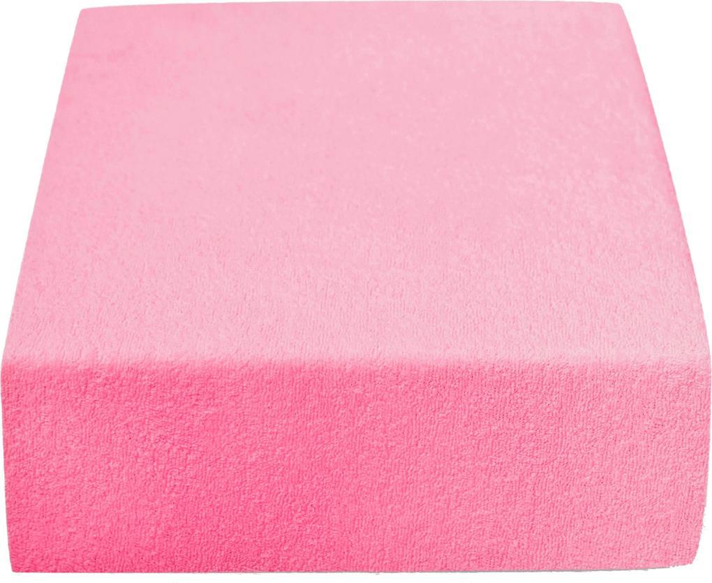 Cearșaf Terry 200 x 220 cm roz