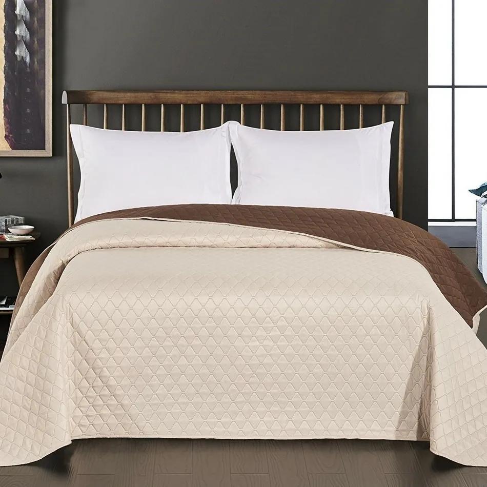 Cuvertură de pat DecoKing Axel, maro/crem, 220 x 240 cm