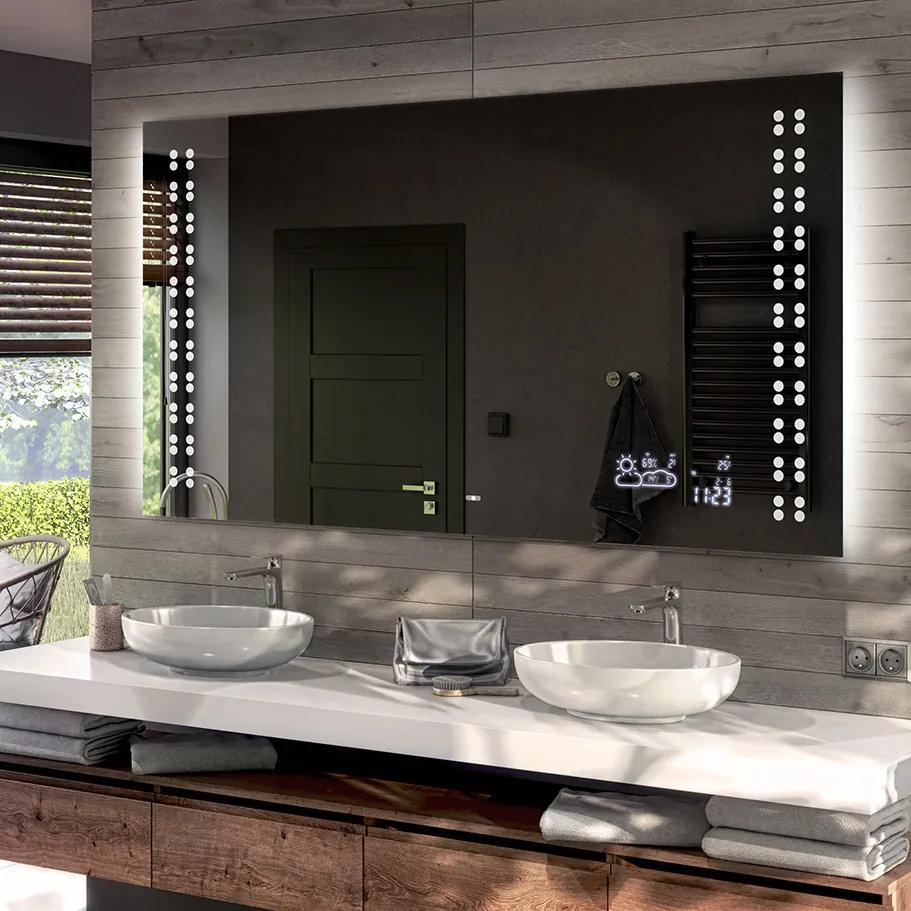 Oglinda baie cu iluminare LED55