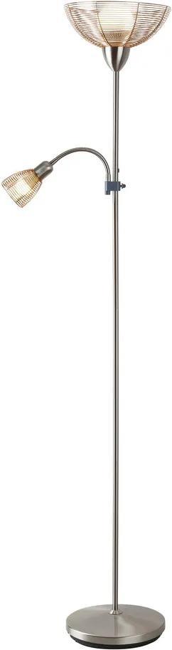 Rábalux Ezra 4186 Lampadar de citit crom cupru 1 x E14 max. 40W 181,5 x 44 x 28 cm