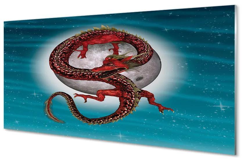 Tablouri acrilice Tablouri acrilice Japoneză luna cer dragon