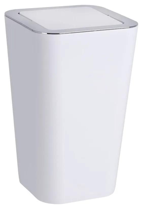 Coș de gunoi Wenko Candy, alb