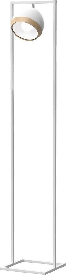 Lampadar Oval White Milagro Modern, E27, Alb, MLP5470, Polonia