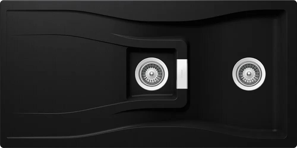 Chiuveta Granit Schock Waterfall D-150 Puro Cristadur 1000 x 500 mm