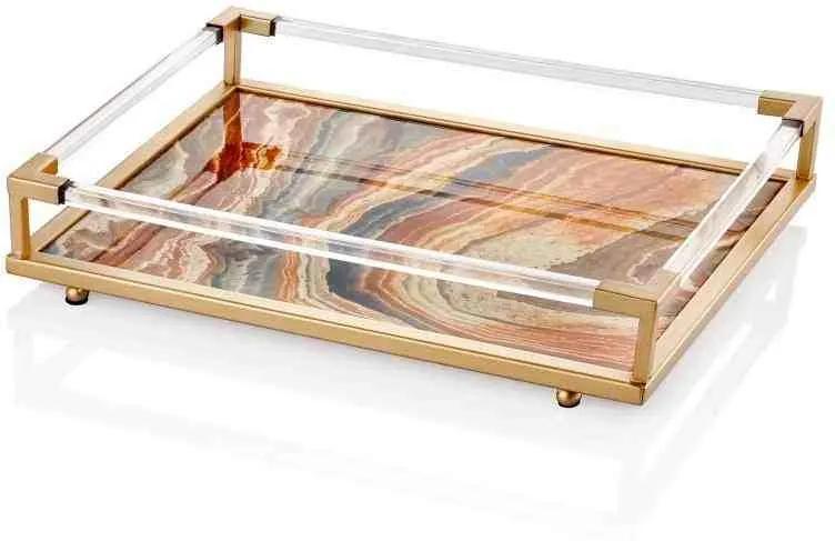 Tava Marble Bej - 40 x 26 x 10 cm