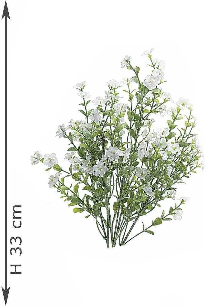 Creanga decorativa flori albe 2