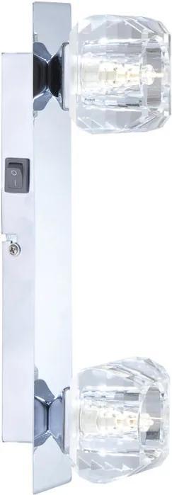 Globo 5692-2 Aplice perete cu intrerupator CUBUS crom 2 x G9 max. 33w IP20 C
