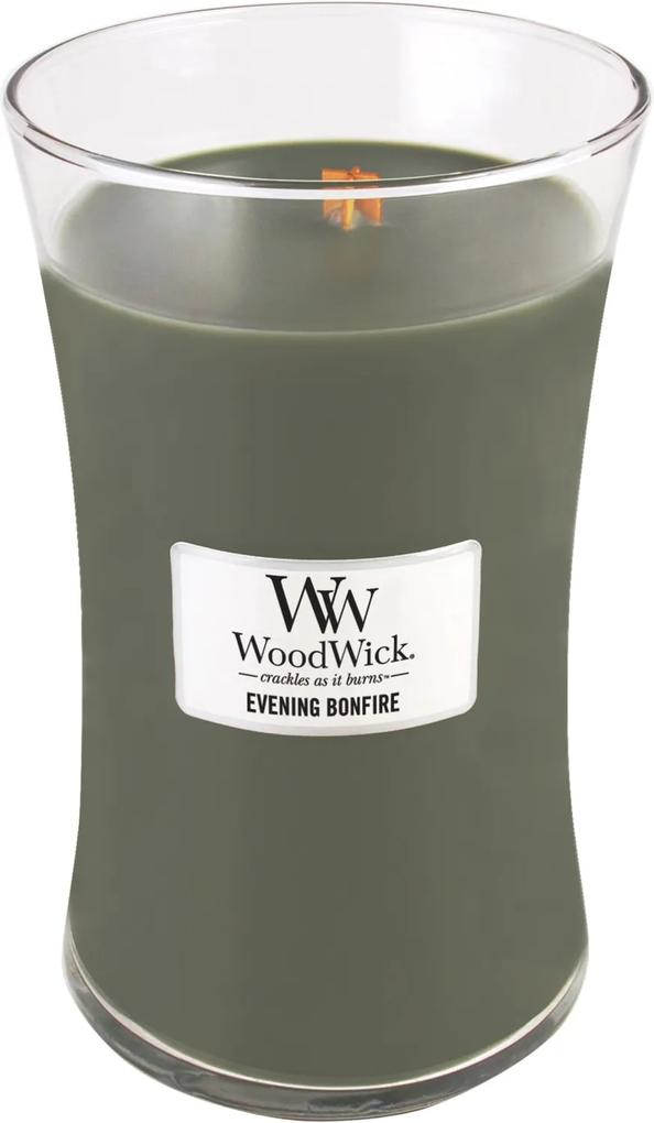 WoodWick lumanare parfumata Evening Bonfire vaza mare