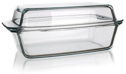 Tavă dreptunghiulară Simax, din sticlă, cu capac, 5,4 l