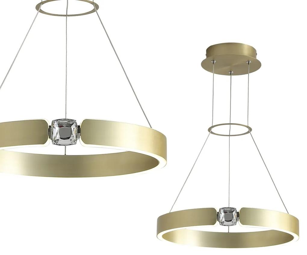 Suspensie SIRIUS Milagro Modern, LED, Auriu/Transparent, ML6186, Polonia