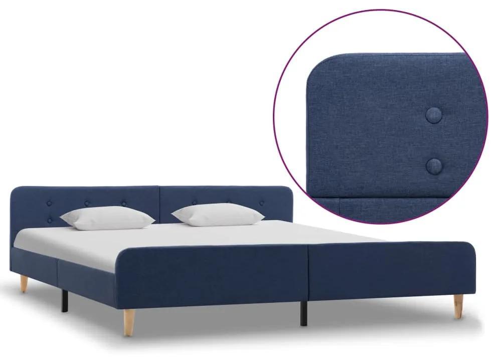 284911 vidaXL Cadru de pat, albastru, 180 x 200 cm, material textil