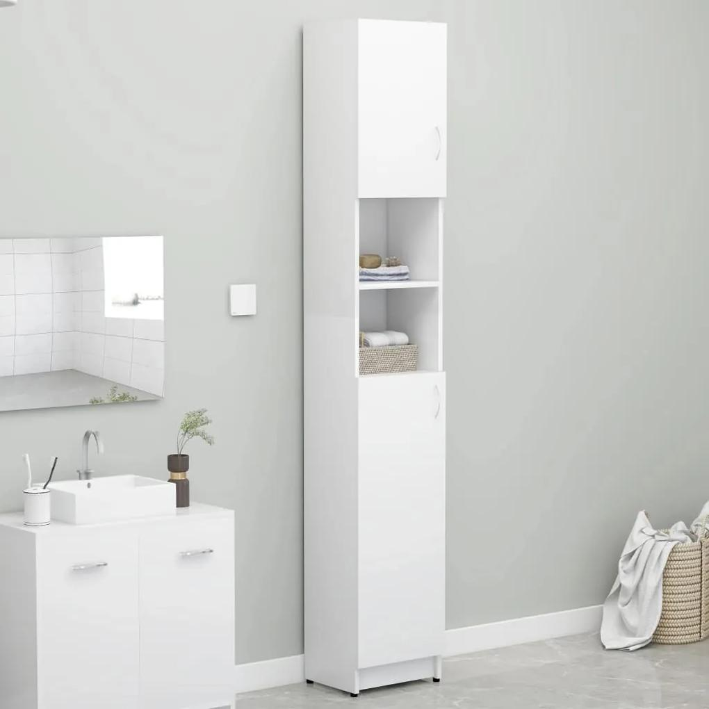 802876 vidaXL Dulap de baie, alb, 32 x 25,5 x 190 cm, PAL