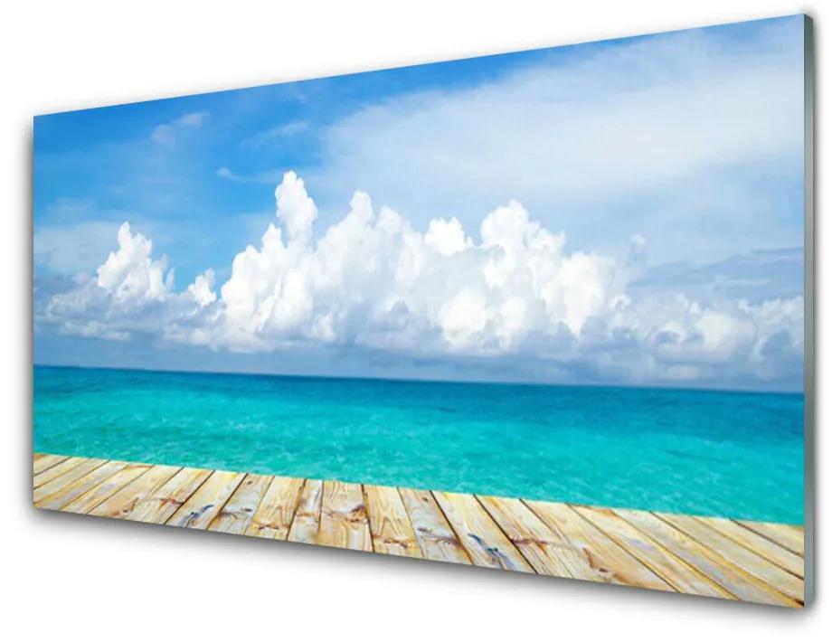 Tablou pe sticla acrilica Sea Peisaj Albastru