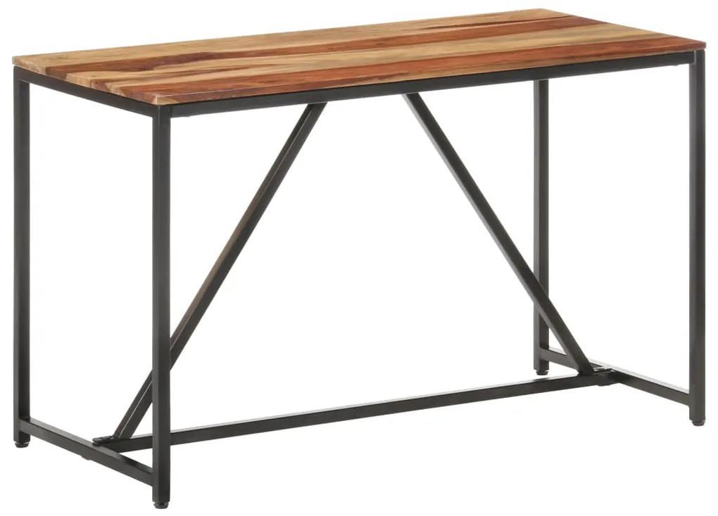 286345 vidaXL Masă de bucătărie, 120 x 60 x 76 cm, lemn masiv de sheesham