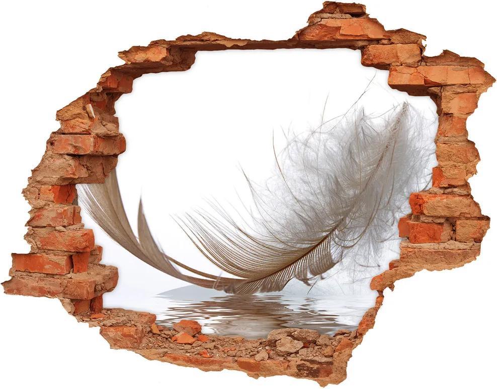 Autocolant de perete gaură 3D Apă pene