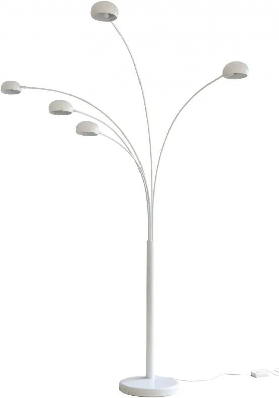 Lampadar din metal/marmura THIS & THAT 220 cm alb, 5 becuri