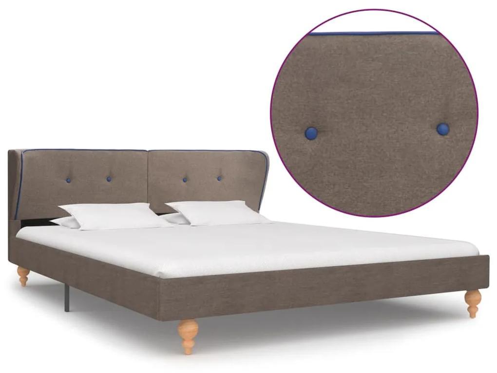 280590 vidaXL Cadru de pat, gri taupe, 160 x 200 cm, material textil