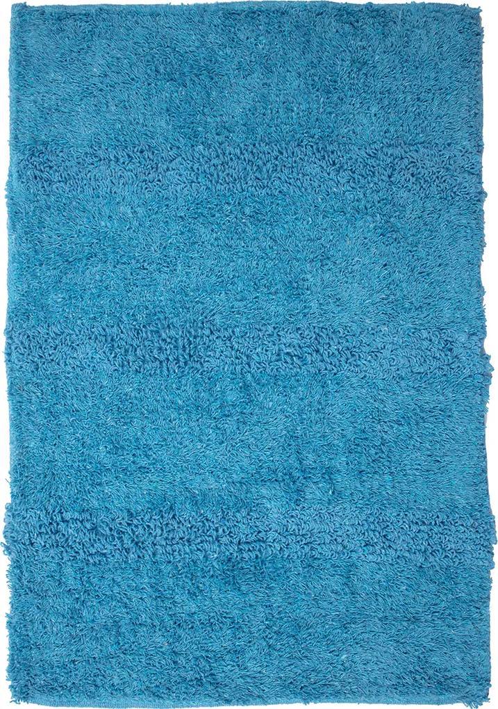 Covoras Baie Nosce, Bumbac, Albastru, 40x60 cm