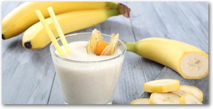 Fotografie imprimată pe sticlă Banane cocktail
