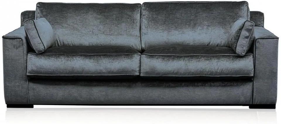Canapea gri otel din viscoza si lemn pentru 3 persoane Metro