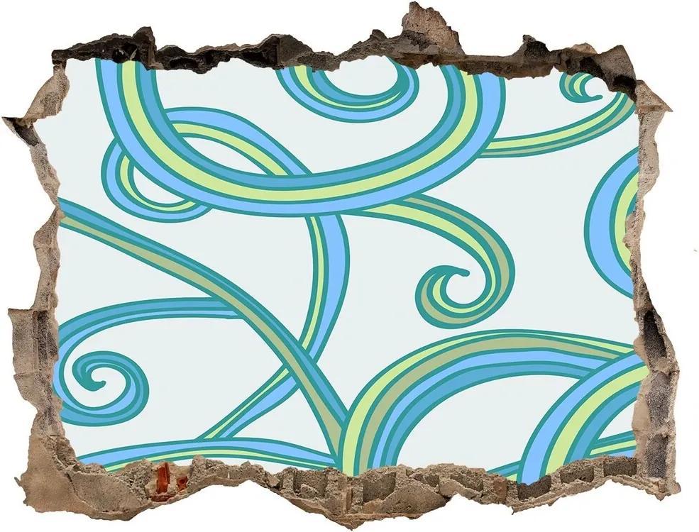 Autocolant de perete gaură 3D Spirale abstracte