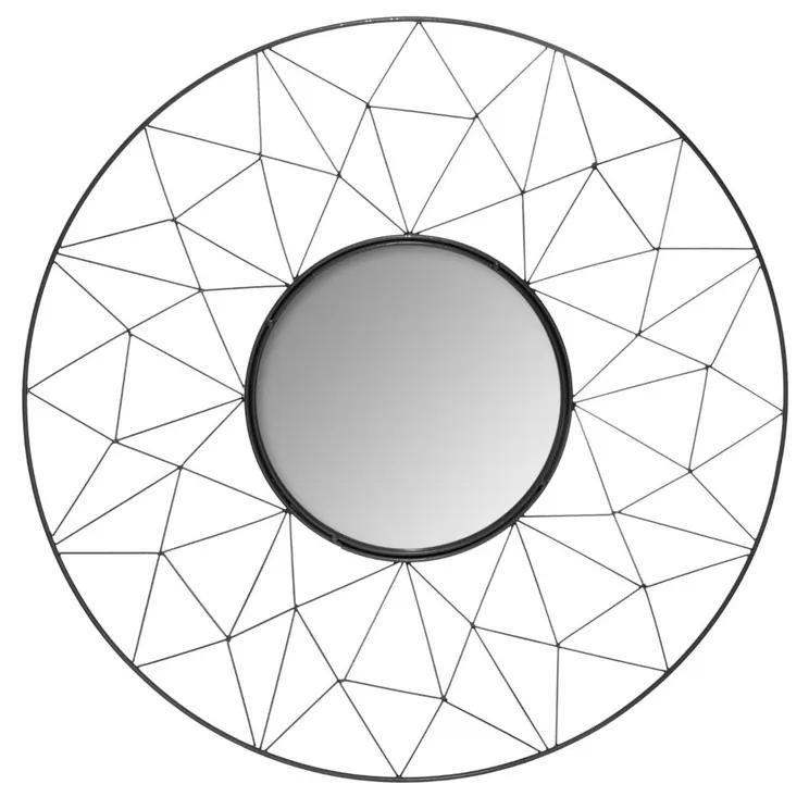 Decoratiune de perete cu oglinda JJA Graphic negru