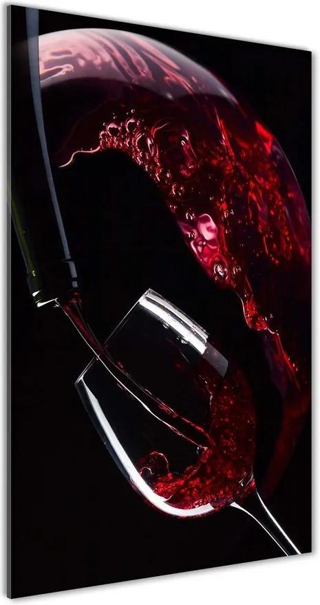 Tablou sticlă acrilică Vin rosu
