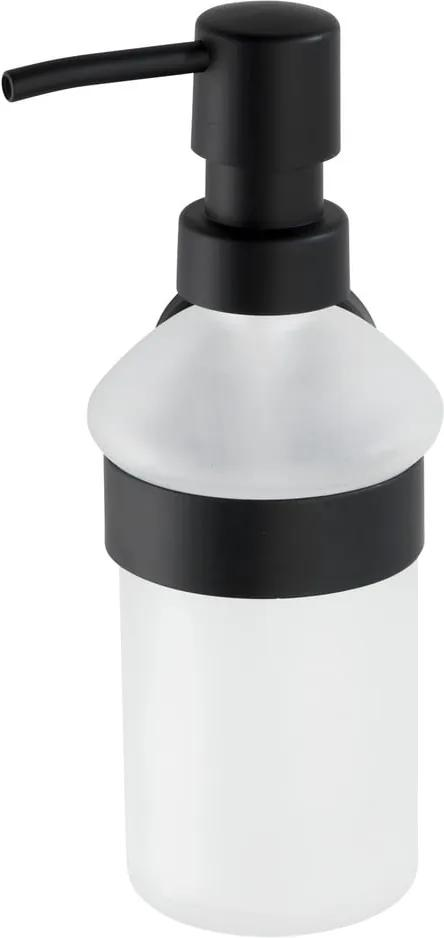 Dozator de perete pentru săpun Wenko Bosio, alb - negru
