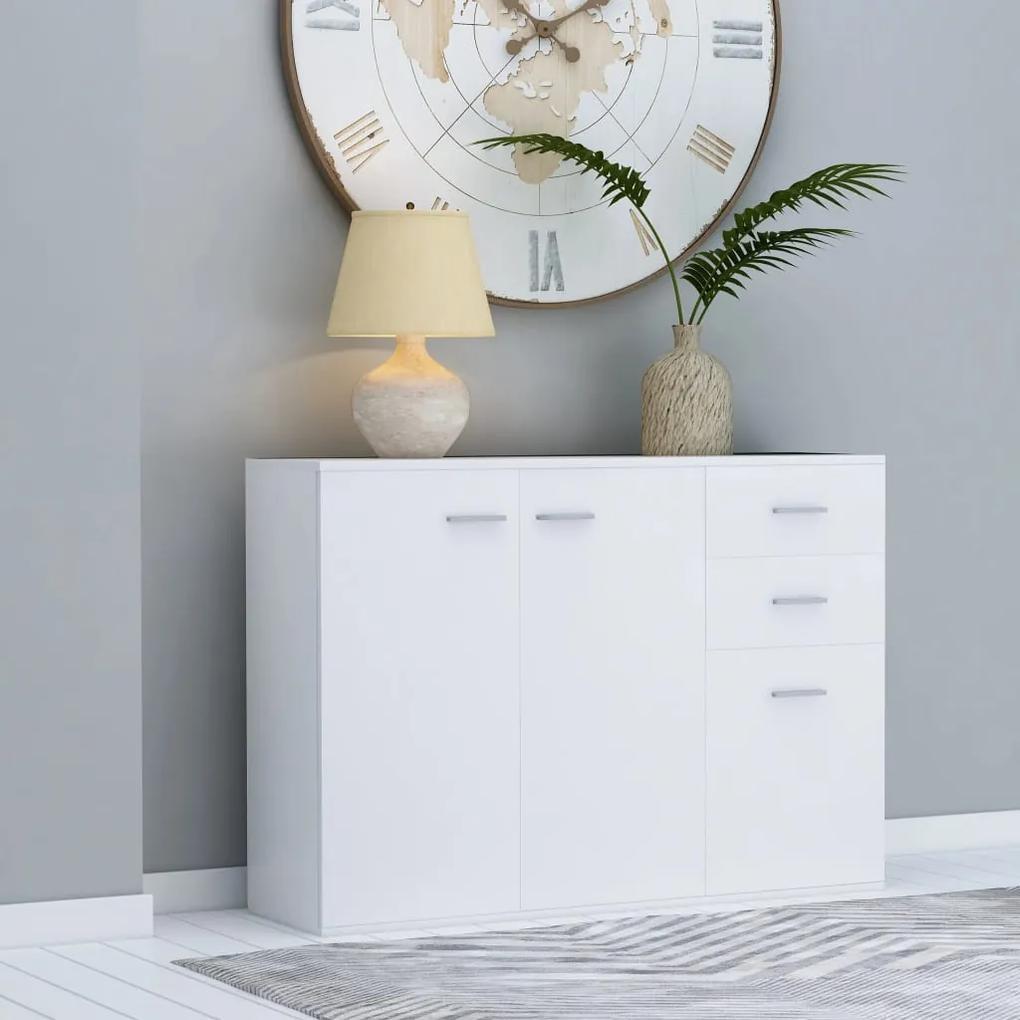 800693 vidaXL Servantă, alb, 105 x 30 x 75 cm, PAL