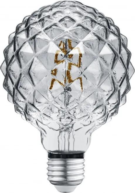 Trio 904-454 Becuri cu LED E27 LED-FILAMENT Fumuriu sticlă E27/ 4W/ 2700K/ 320Lm 140lm A