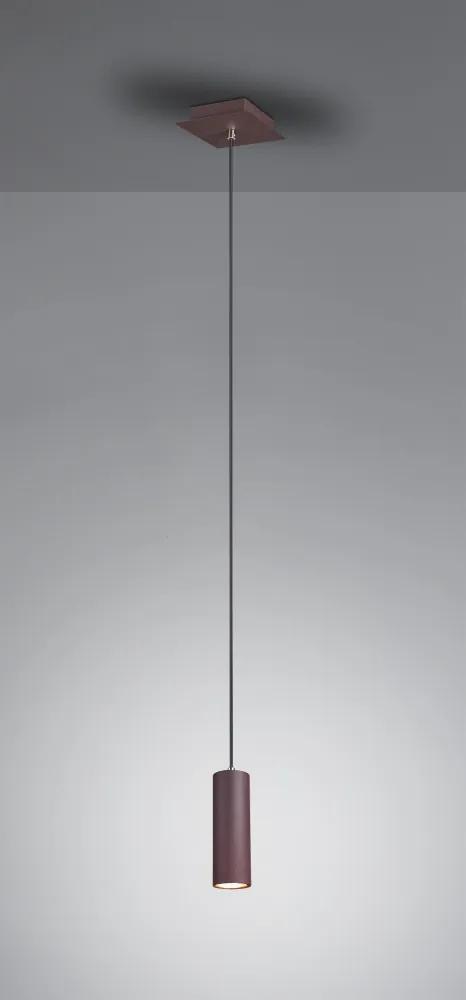 Trio 312400124 Pendul cu 1 braț MARLEY rugina metal excl. 1 x GU10 IP20
