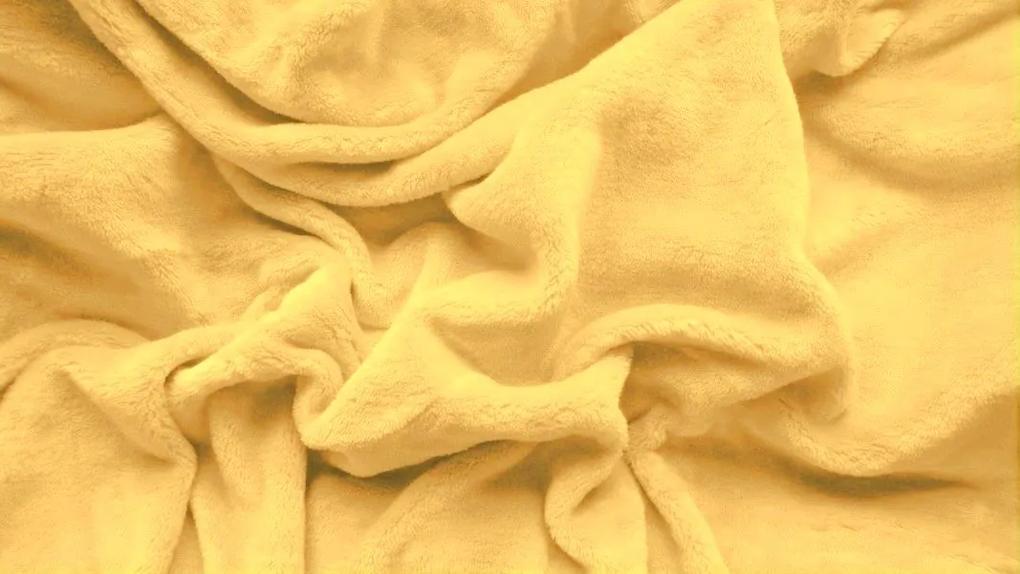 Cearșaf micropluș 90x200 cm galben