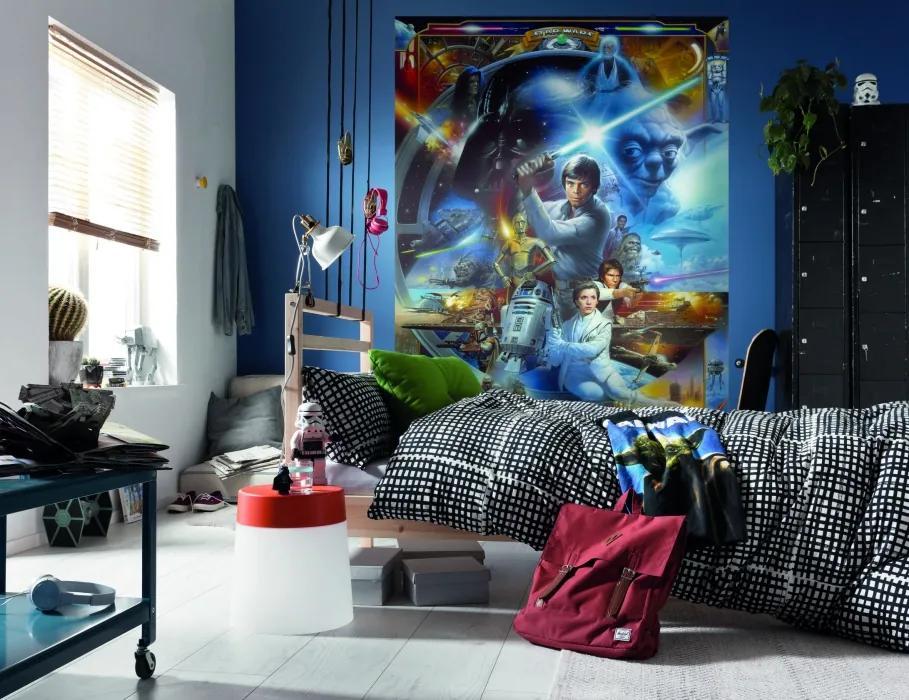 Komar Fototapet - STAR WARS Luke Skywalker Collage
