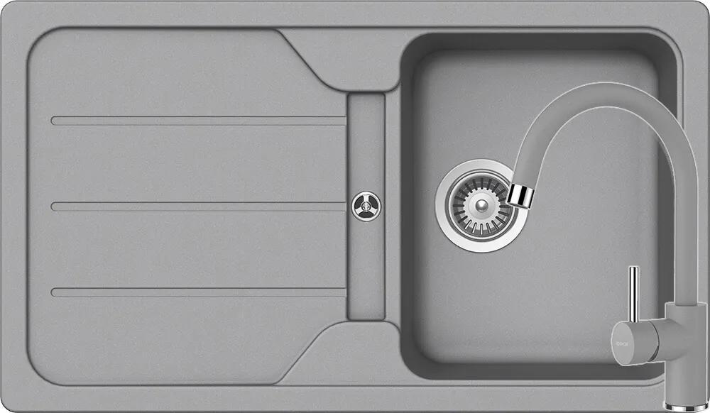 Set Chiuveta Schock Formhaus D-100 860 x 500 mm si Baterie Schock Plutos Croma Cristalite