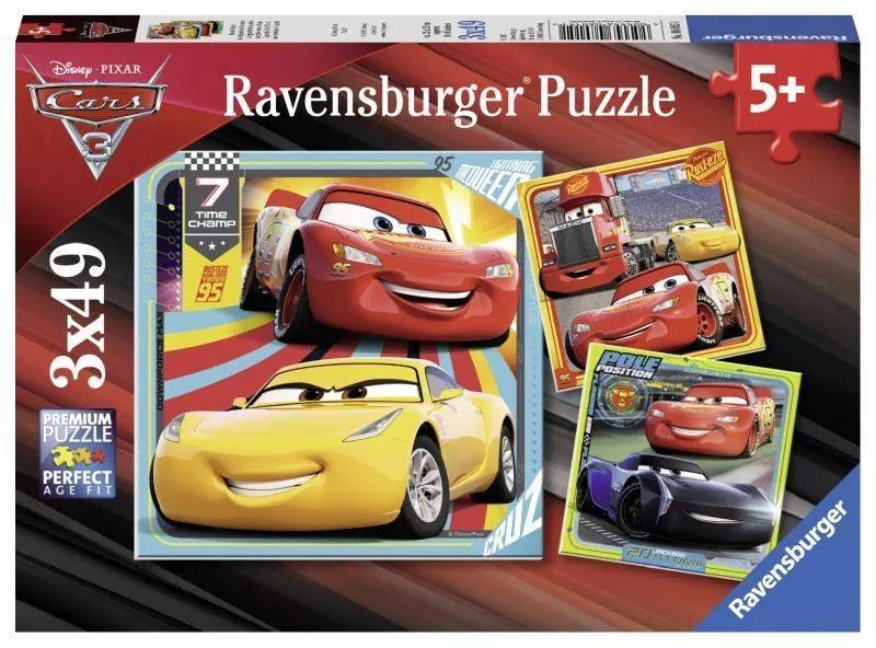 PUZZLE Copii 5Ani+ CARS, 3x49 PIESE
