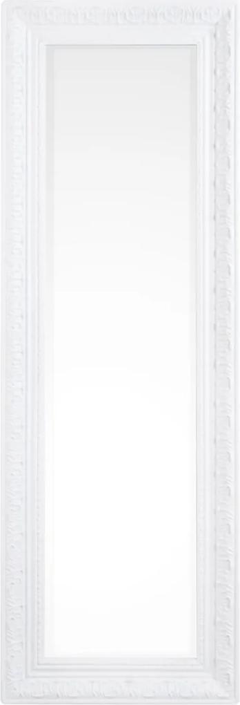 Oglinda decorativa perete cu rama lemn alba Miro 30 cm x 3 cm x 90 h