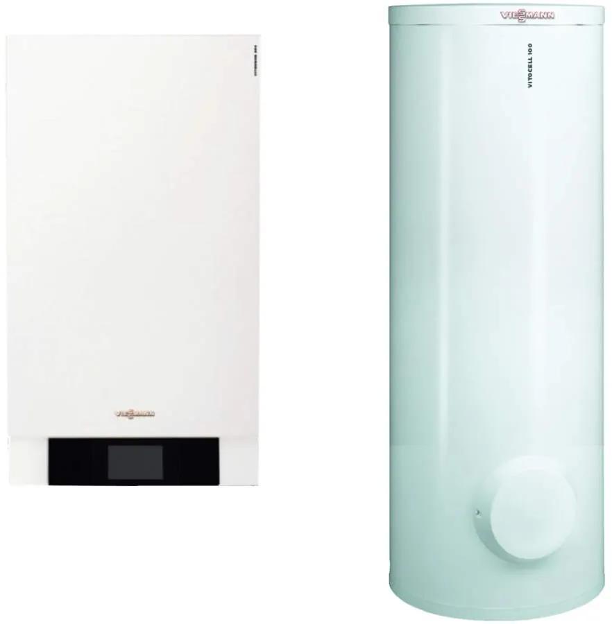 Centrala Vitodens 200-W 49 Boiler 300 solar B2HAL55